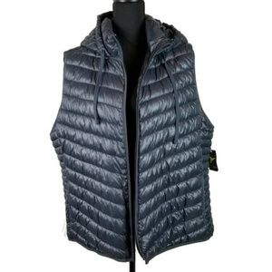 Charcoal Gray Old Navy Active Vest w/ hood